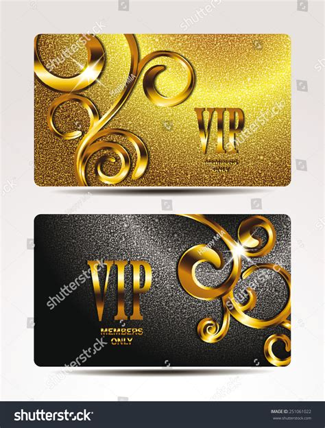 Where To Buy Gold Class Gift Cards - vip gold cards floral design elements stock vector 251061022 shutterstock