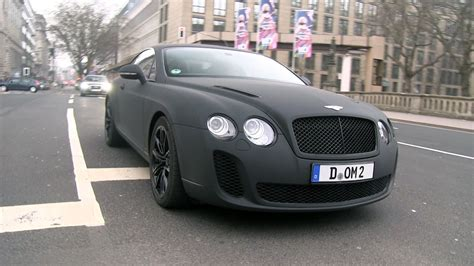matte bentley matte black bentley continental supersports driving in