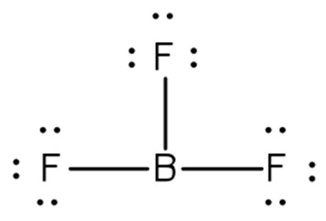 lewis dot diagram for boron how are valence electrons in lone pairs represented in the