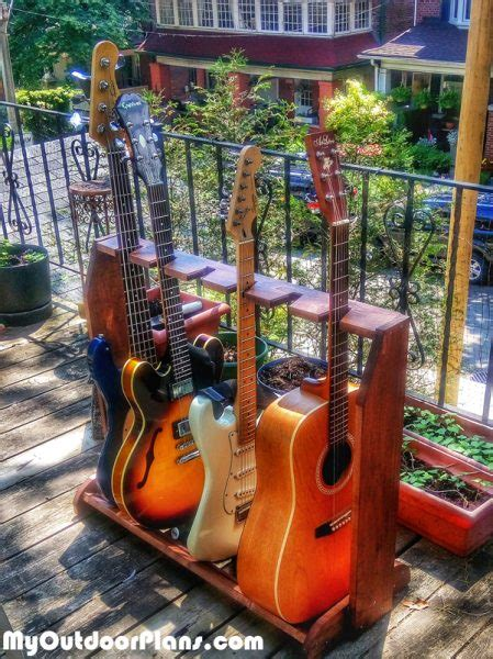 diy simple guitar stand myoutdoorplans