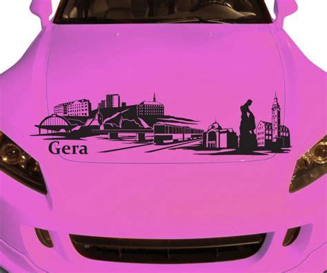 Autoaufkleber Drucken Gera autoaufkleber gera deutschland skyline car sticker auto