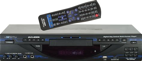 format dvd en divx vocopro dvx 890k multi format dvd divx karaoke player with