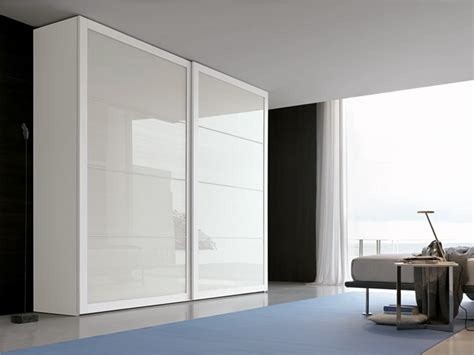 Italian Wardrobe Design by Tomasella Reflection Glass Sliding Door Wardrobe