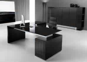 Top Office Desks Modi Executive Pedestal Desk Black Glass Top Office Decoration Pedestal Desk