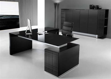 modi executive pedestal desk black glass top office