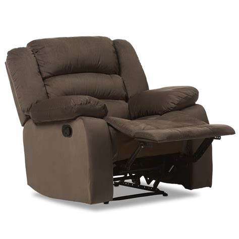 microsuede recliner hollace microsuede recliner in taupe 98240 brown