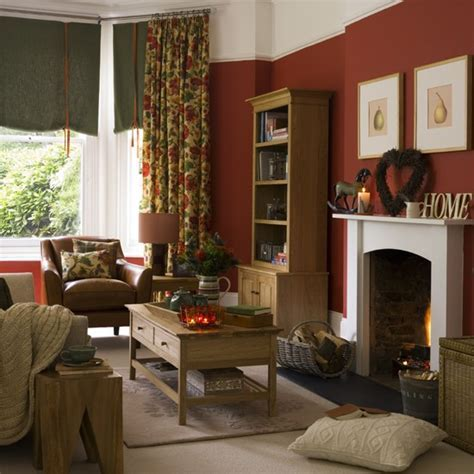 Warm and cosy country living room   housetohome.co.uk