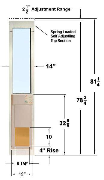 Door Height Front Door Handle Height Standard Double Standard Patio Door Opening