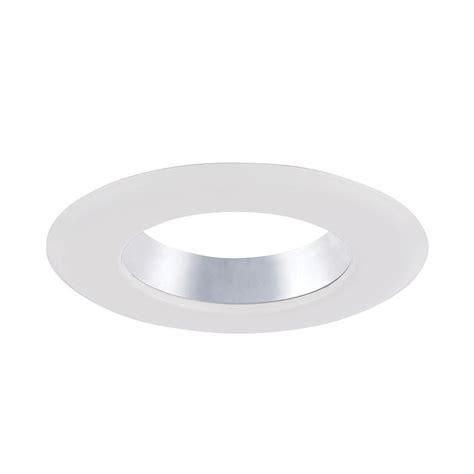 Ceiling Light Trim Rings Envirolite 4 In Decorative Specular Clear Cone On White Trim Ring For Led Recessed Light With