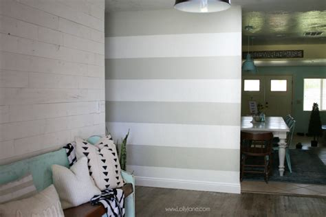 are accent walls still in style 2017 striped accent wall diy lolly jane