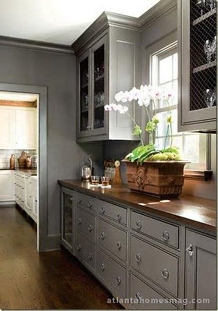 light grey kitchen cabinets with wood countertops grey kitchen with wooden countertops simply