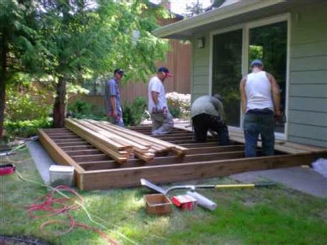 how to level a house bill and his crew build a deck youtube