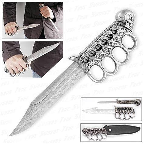 skull knives custom skull bones knife set w knuckle guard true swords