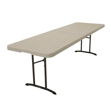 8 Foot Folding Table 80075 Lifetime 8 Foot Commercial Fold In Half Table Features A 96 Quot X 30 Quot Molded Tabletop