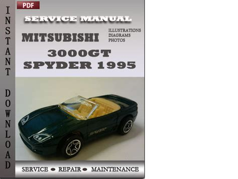vehicle repair manual 1995 mitsubishi 3000gt on board diagnostic system mitsubishi 3000gt spyder 1995 service repair manual download manu