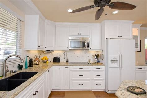 Walsh Countertops by White Custom Cabinetry With Contrast Hardware Granite