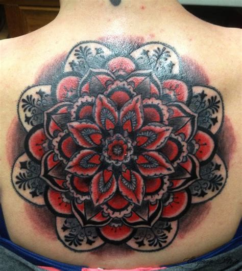 color mandala tattoo back mandala color eugene pirie tattoos