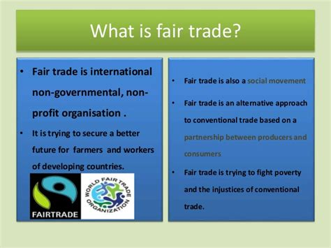 what are trade quot what is fair trade quot a presentation