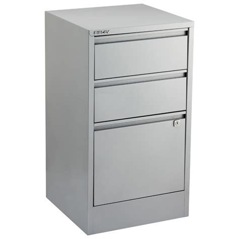 Bisley Silver 2  & 3 Drawer Locking Filing Cabinets   The