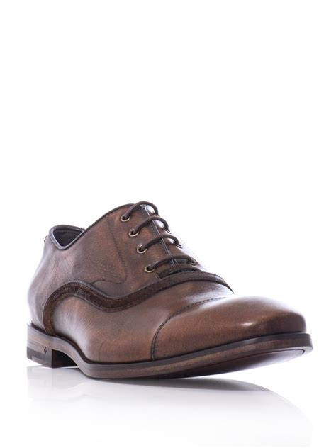 varvatos oxford shoes varvatos fleetwood oxford shoes in brown for lyst