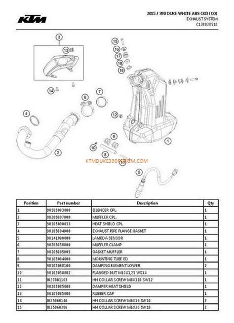 Ktm Parts List Ktm Duke 390 Parts List Diagram Ktm Duke 390 Forum
