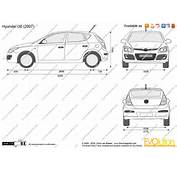 The Blueprintscom  Vector Drawing Hyundai I30