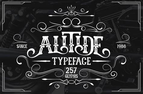 retro fonts  perfect  vintage style inspired