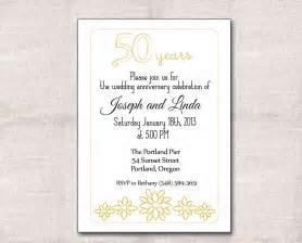 wedding anniversary templates golden wedding anniversary invitation golden wedding