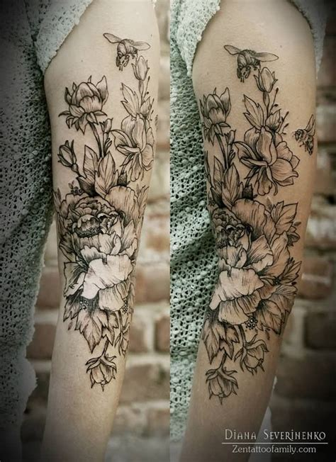 white and black tattoo designs 15 black and white floral designs