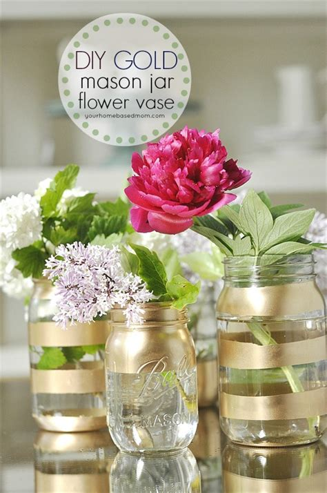 diy gold mason jar flower vases gold mason jars mason