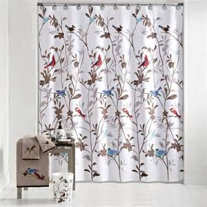 mainstays birds in nature fabric shower curtain