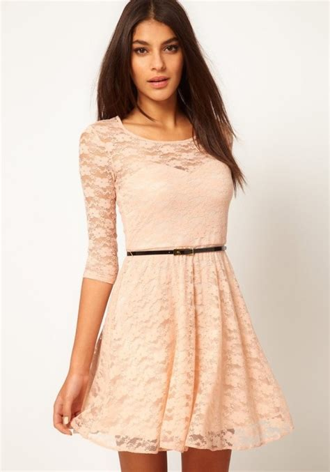 white belt collarless seven s sleeve lace dress midi
