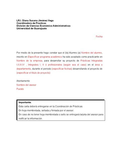 Carta De Terminacion De Servicio Comunitario formato ejemplo carta aceptacion