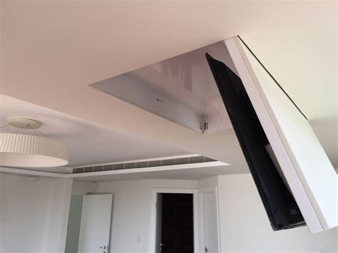 ceiling tv lift iconnect fold ceiling tv lift tvl rh