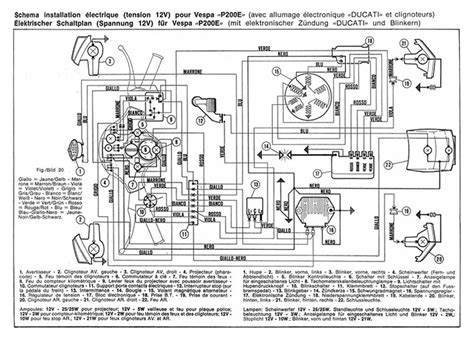 p200 wiring diagram 28 images vespa px indicator