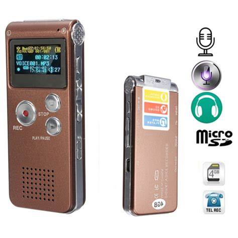 Digital Voice Recorder With Mp3 Player 4gb buy rechargeable 4gb 650hr digital audio voice recorder mp3 player bazaargadgets