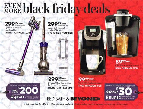bed bath and beyond thanksgiving black friday 2016 bed bath and beyond ad scan buyvia