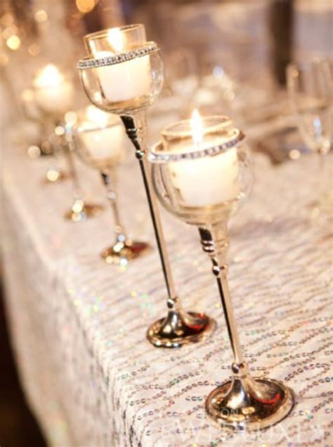 crystal globe candle centerpiece Archives   Weddings