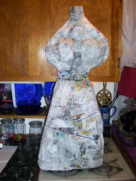 How To Make A Paper Mache Dress Form - s quilts paper mache dress form