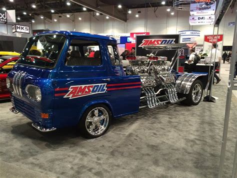 four ford 1962 ford econoline truck with four supercharged v8s