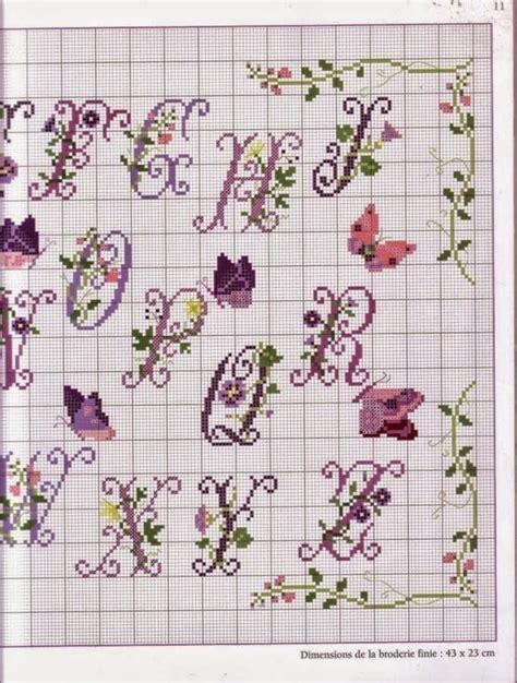 schemi punto croce farfalle e fiori punto croce schemi gratis e tutorial schema alfabeto