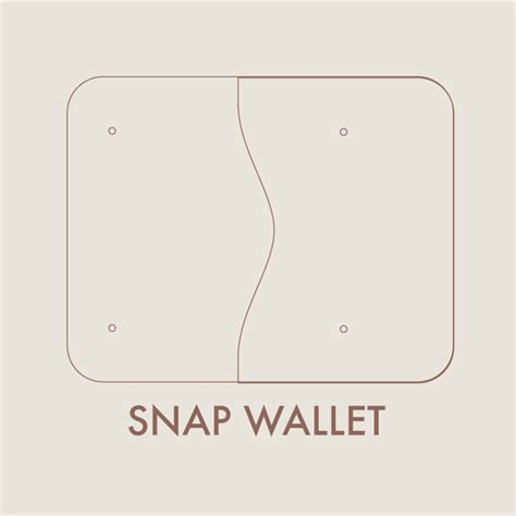 leather templates leather snap wallet digital template 8 5 x 11 makesupply