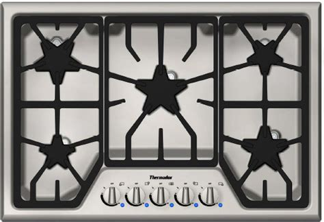 thermador sgsfs   gas cooktop   star burners