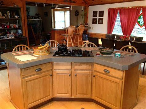 hand  modern kitchen    thick countertops