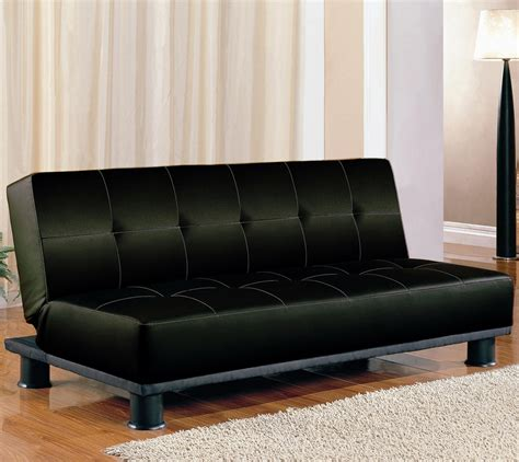 Sofa Bed Black by Black Faux Leather Sofa Bed Convertible Sofa Beds