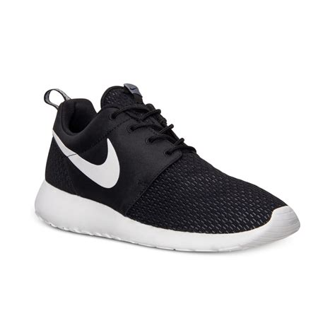 sneakers mens nike s roshe run casual sneakers from finish line in