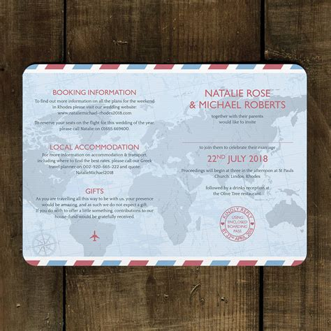 not on the high wedding invitation st passport wedding invitation by feel wedding invitations notonthehighstreet