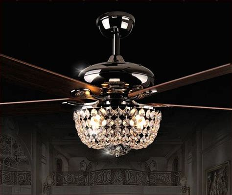 crystal chandelier ceiling fan combo hupehome