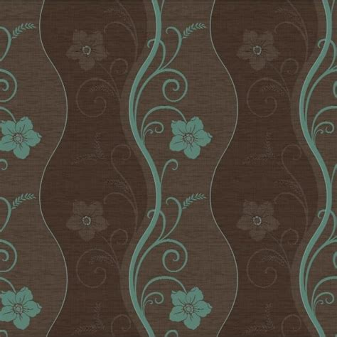 Arthouse opera rhythm chocolate brown teal 614404 wallpaper from i love wallpaper uk