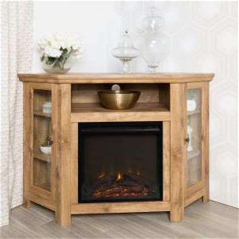 Home Depot Tv Stand With Fireplace by Walker Edison Furniture Company Barnwood Place